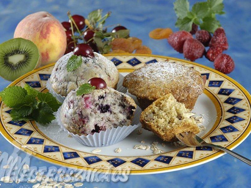Gyümölcsös muffin recept