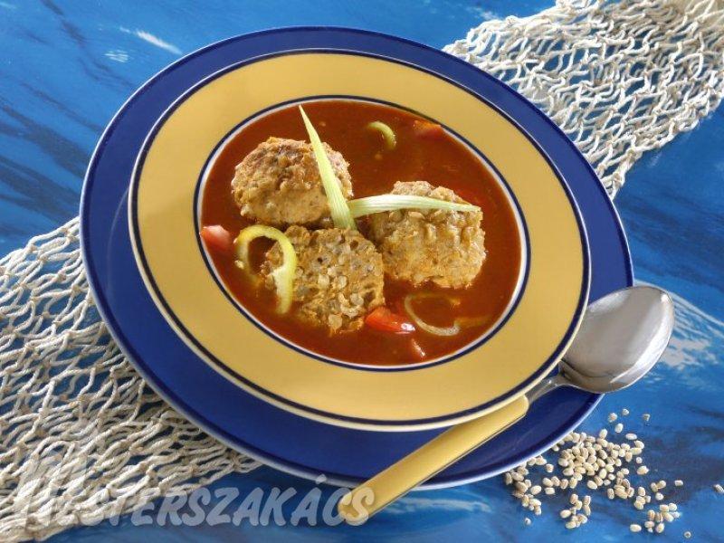 Halászlé pontygombóccal recept