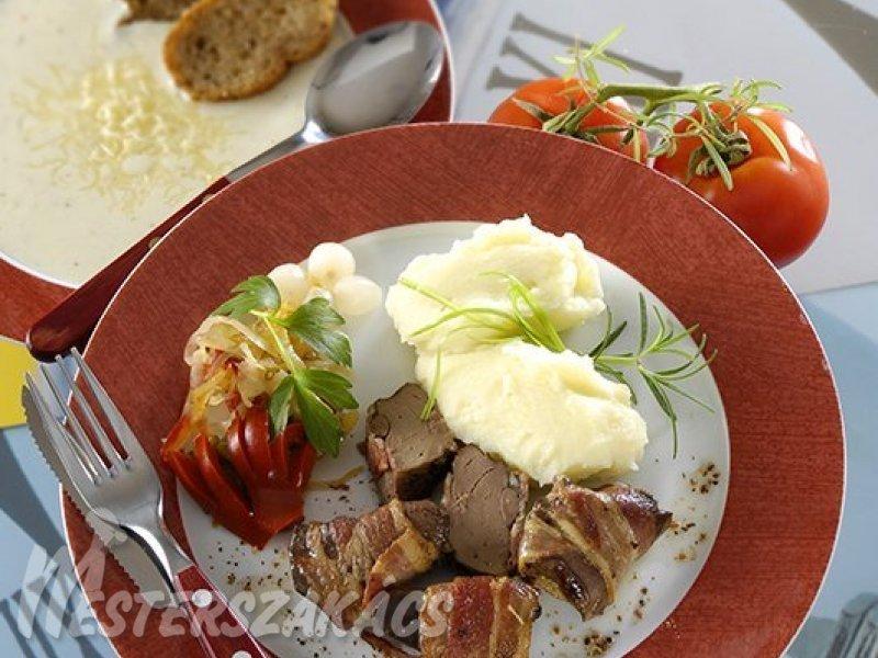 Húsos szalonnában sült pecsenyeliba- vagy pulykamáj recept