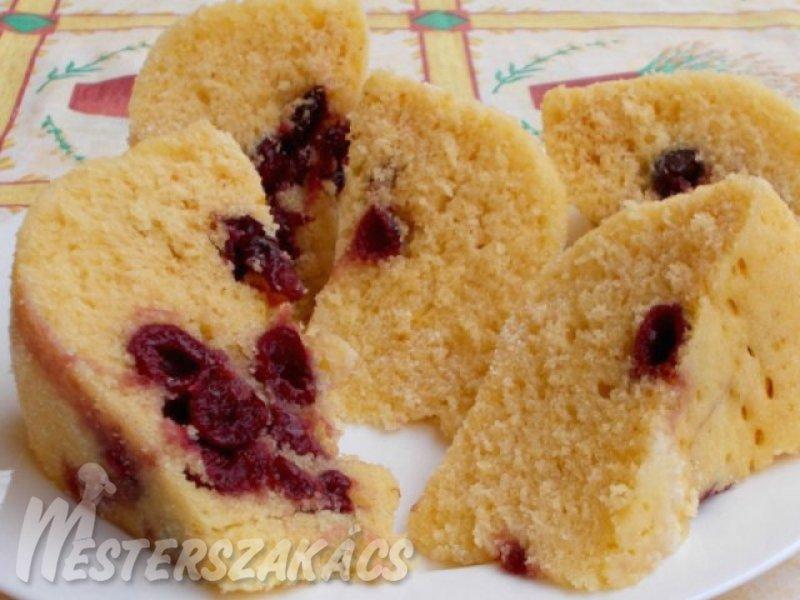 Joghurtos-meggyes sütemény mikróban sütve recept