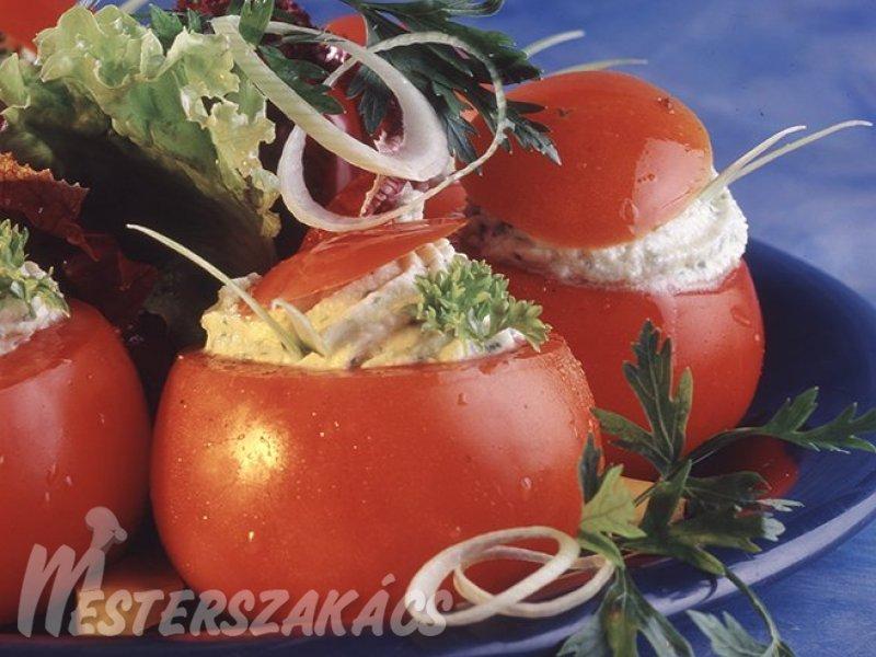 Juhsajttal töltött paradicsom recept