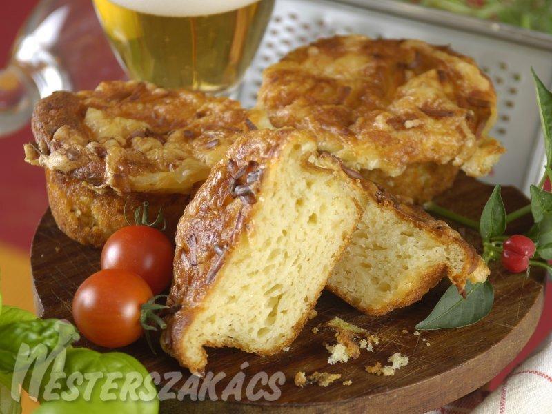 Juhtúrós, duplasajtos muffin recept