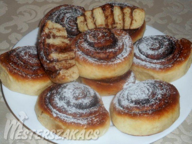 Kakaós-vaníliás csiga recept