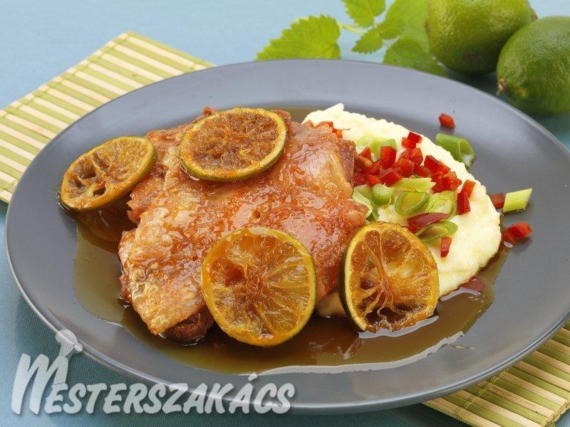 Karamell-lime csirkecomb recept