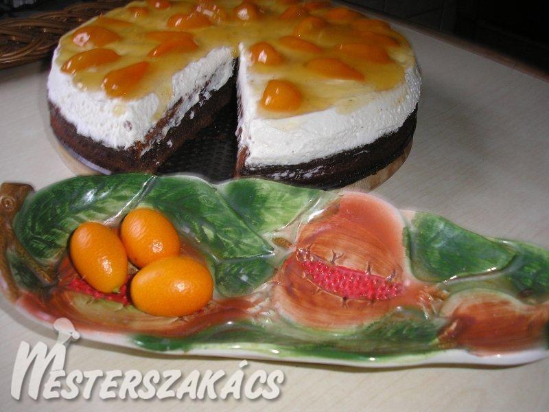 Kardamomos csokitorta mascarpónés bébinarancskompóttal recept