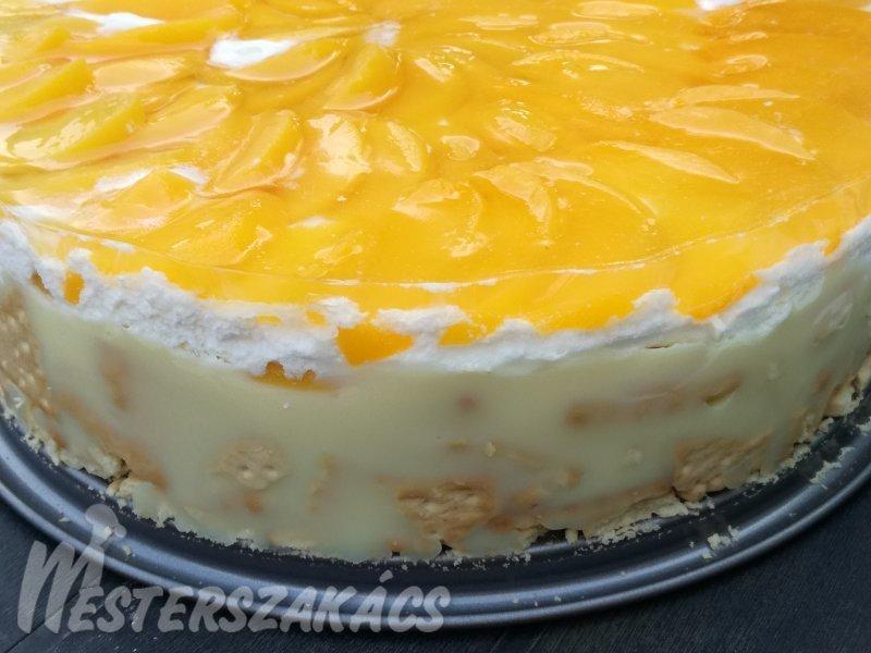 Kekszes barackos torta recept