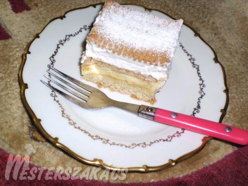 Kekszes krémes - vaníliás recept