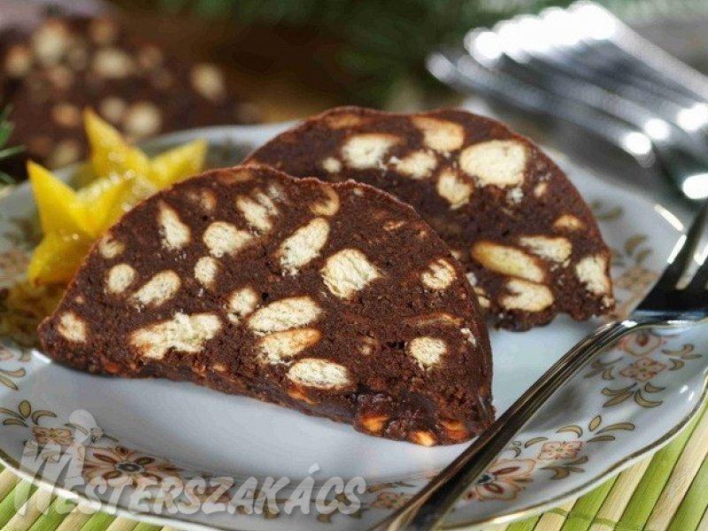 Kekszes szalámi recept