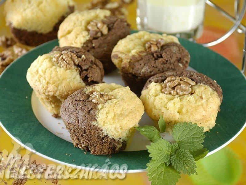 Kétszínű muffin recept