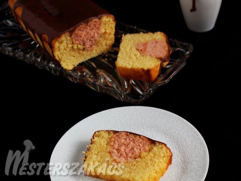 Kevert sütemény titkos szívvel recept