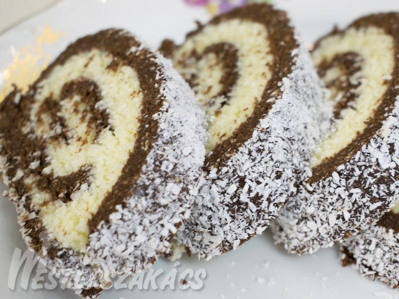 Kókuszos keksztekercs recept