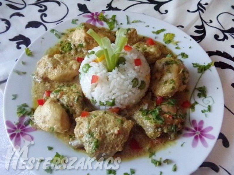 Kókuszos maláj csirke recept