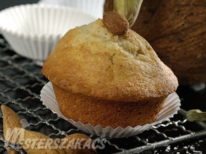 Kókuszos, mandulás muffin recept