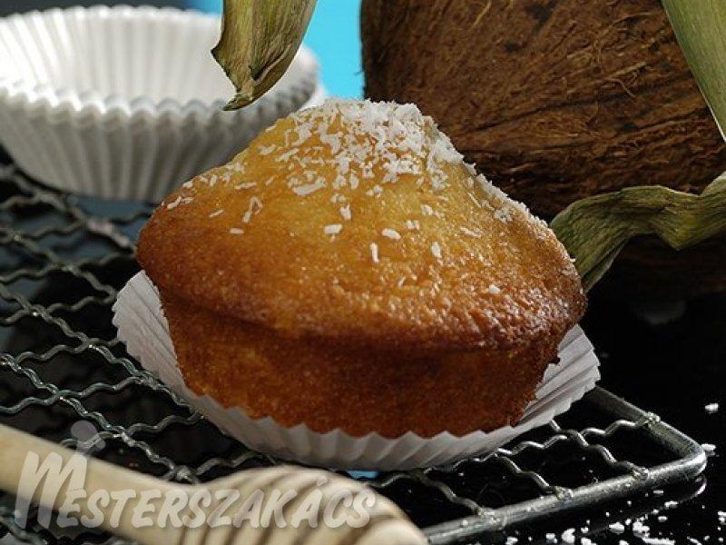 Kókuszos, mézes muffin recept
