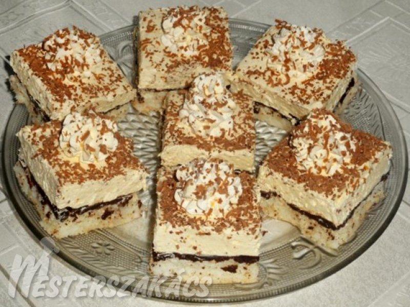 Kókuszos, vaníliakrémes sütemény recept