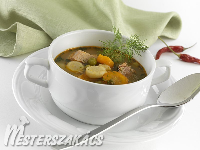 Koranyári pulykaleves recept