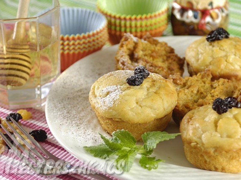 Kukoricapelyhes, mazsolás muffin recept