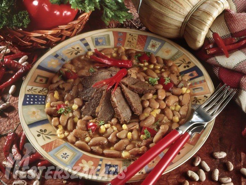 Libamell csilis babbal  recept