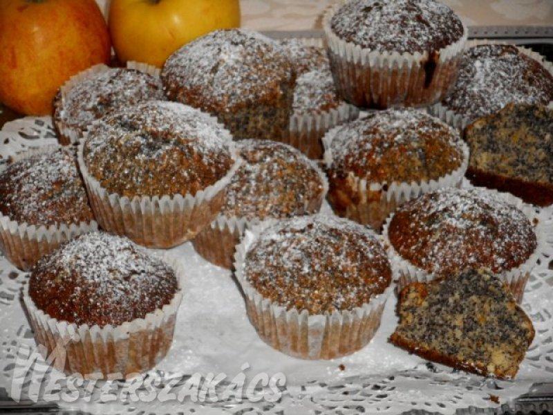 Mákos-almás muffin recept