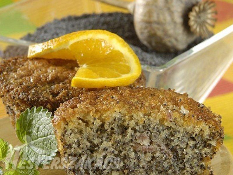 Mákos, narancsos muffin recept