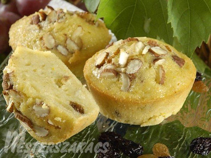 Mazsolás burgonyás muffin recept