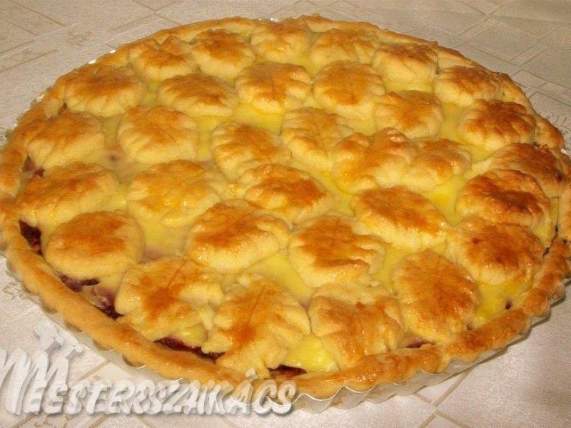 Meggyes-vaníliakrémes pite recept
