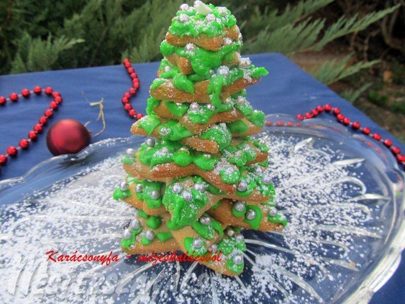 Mézeskalács karácsonyfa recept