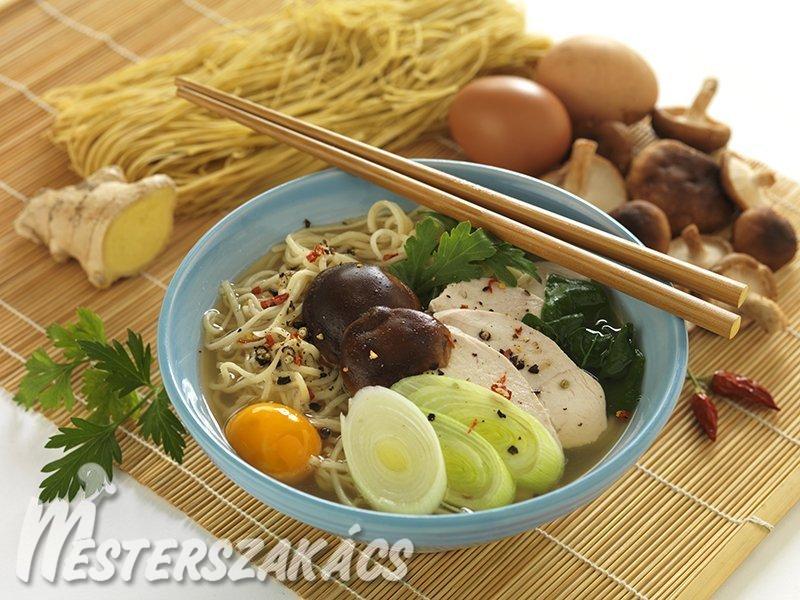 Nabeyaki udon  (japán tésztaleves) recept