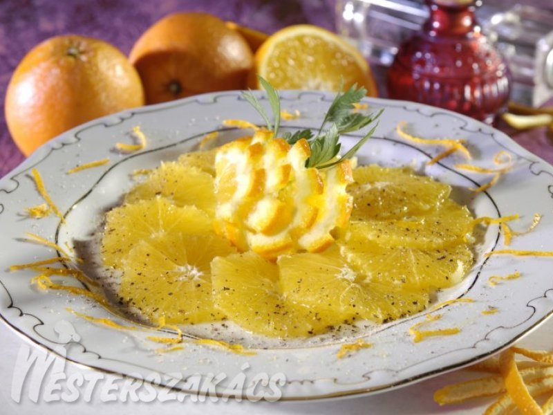Narancscarpaccio recept