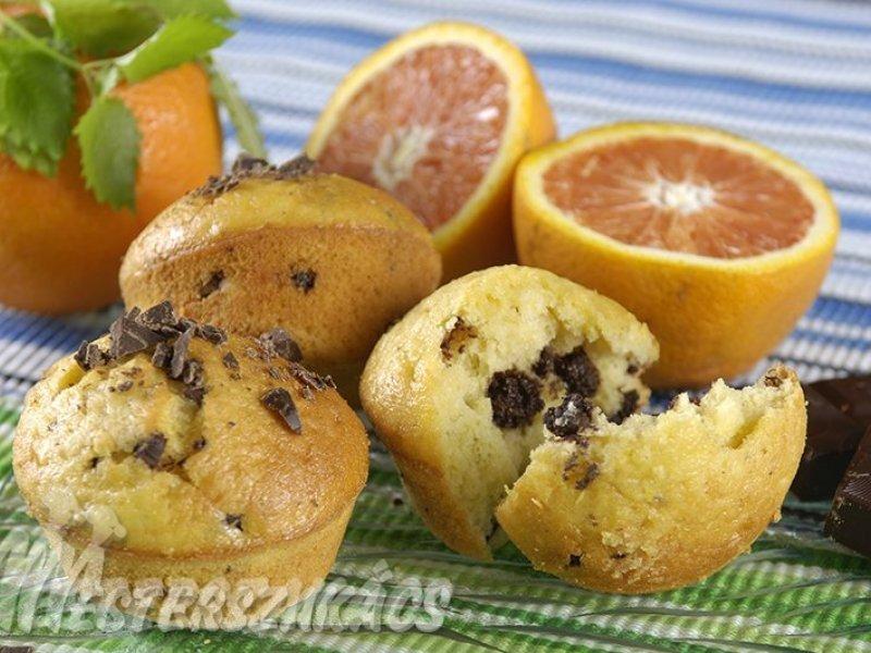 Narancsos, datolyás muffin recept