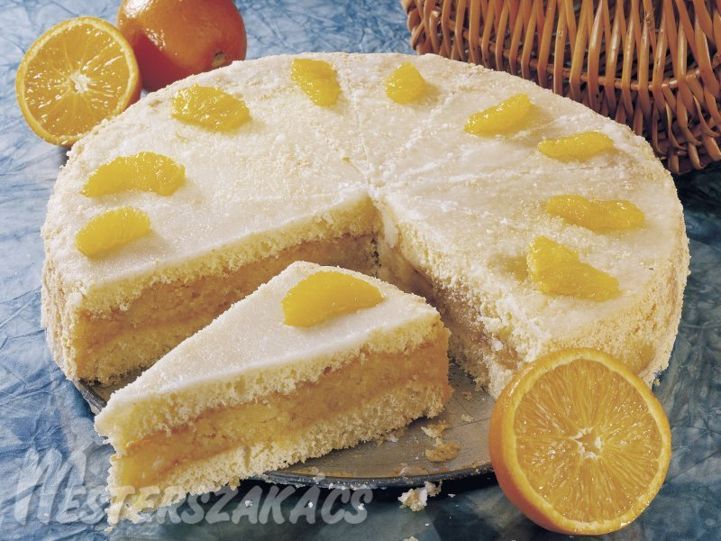 Narancsos puncstorta  recept