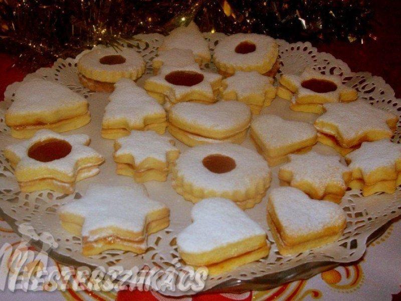 Narancsos, töltött keksz recept