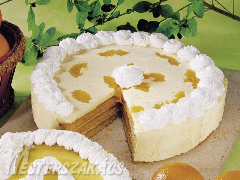 Narancstorta tejszínesen recept