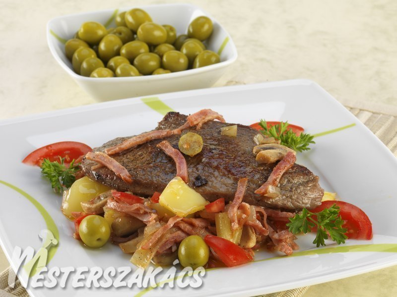 Olívás borjúcomb recept
