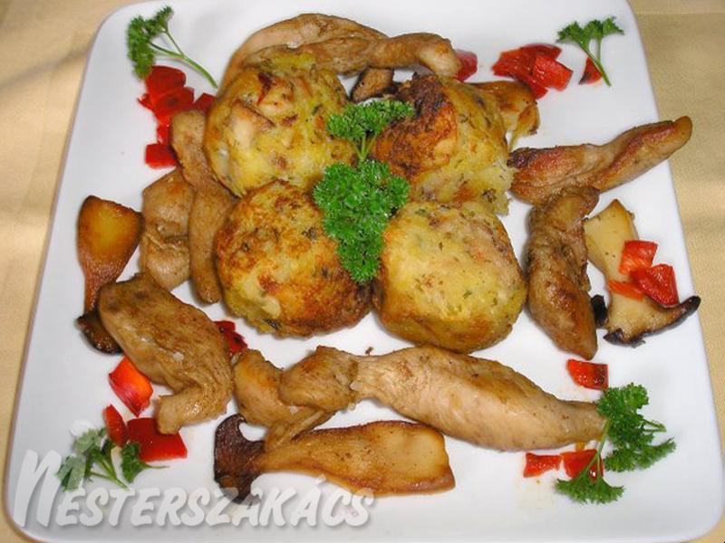 Ördögszekérgombás burgonyagombóc recept