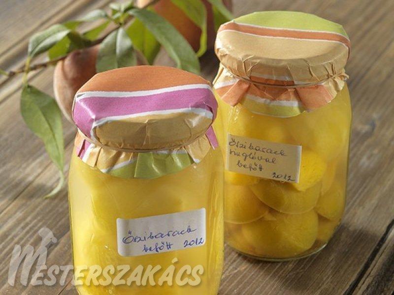 Őszibarackbefőtt  hagyományosan és cukorbetegeknek recept