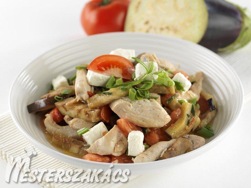 Padlizsános-fetás csirke recept