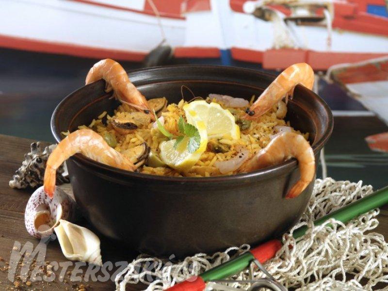 Paella tengerész módra recept