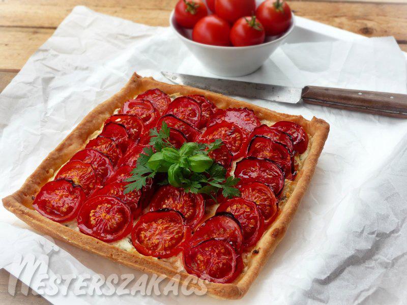 Paradicsomos-túrós pite recept