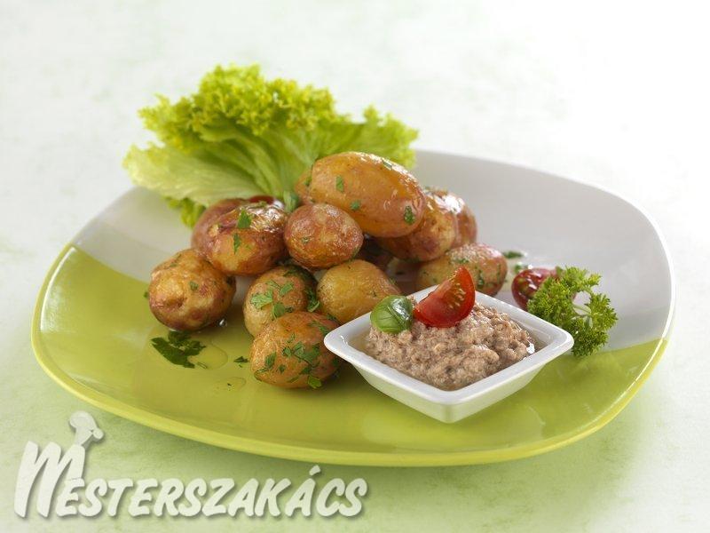 Petrezselymes sült újkrumpli tonhalkrémmel recept