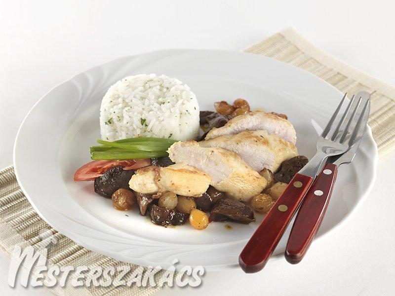 Pirított csirkecsíkok erdőkerülő módra recept