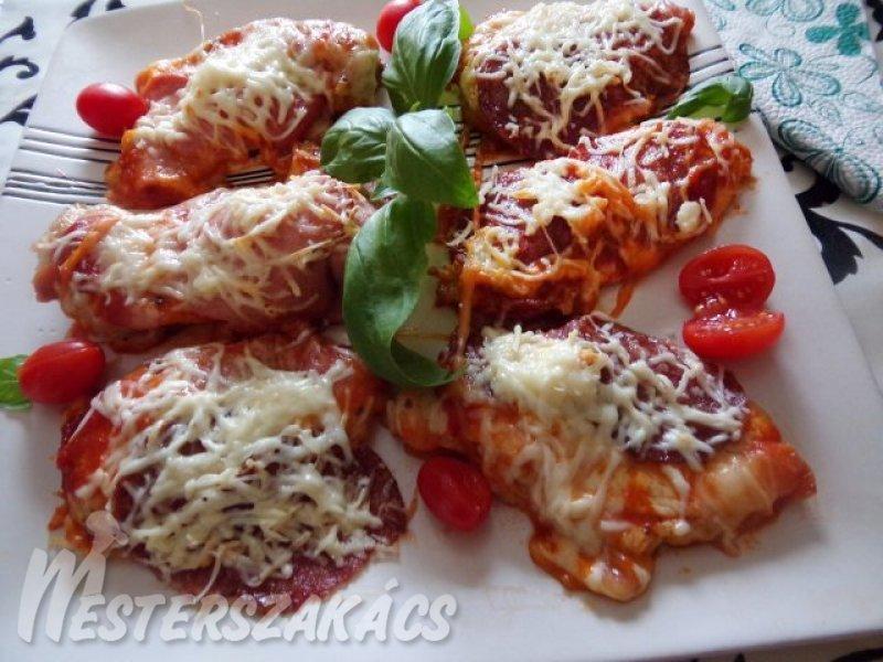 Pizzás csirkemell recept