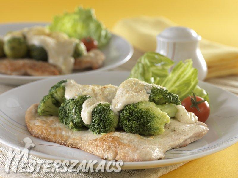 Pulyka- vagy csirkejava brokkolival vagy kelbimbóval csőben sütve recept