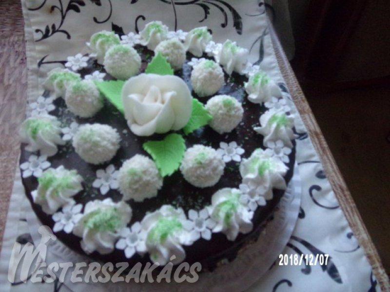 Raffaello születésnapi torta recept
