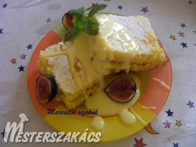 Rizskoch fügével és vaníliakrémmel recept