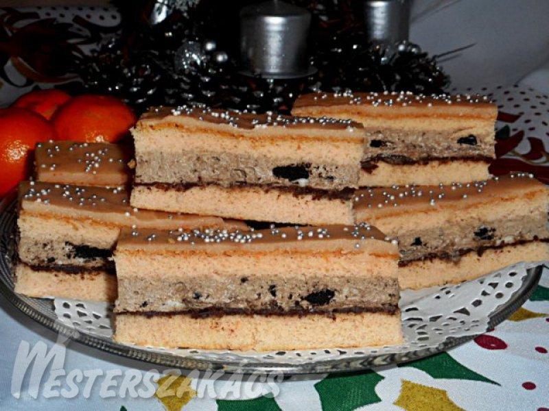 Rumpuncsos szelet, oreó kekszes krémmel recept