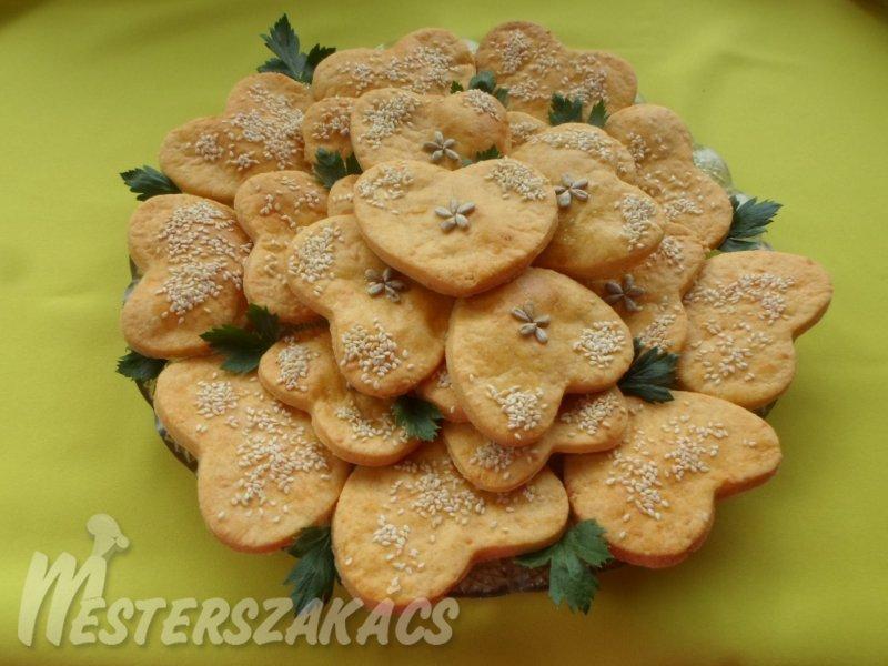 Sajtos-magvas szívecskék recept