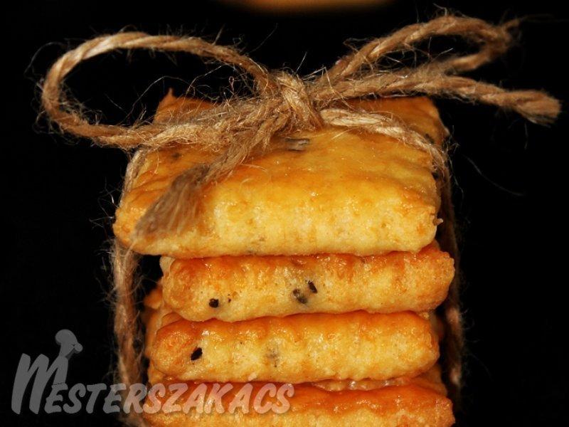 Sajtos-sós keksz recept