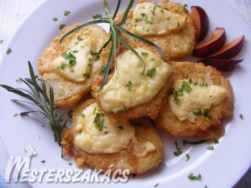 Sajtos-tojásos, sült burgonya recept