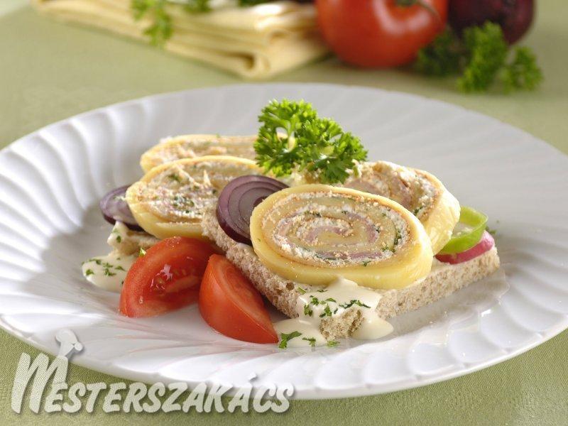 Sajtroládos szendvics recept